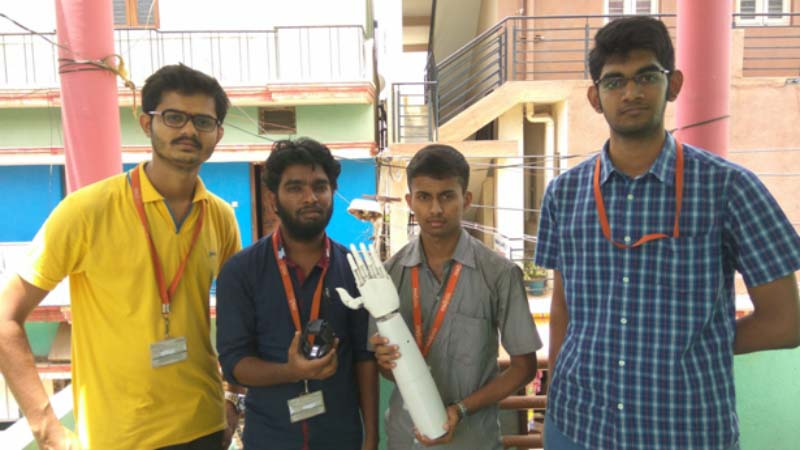 Indian Students turn to Fracktal Works to 3D Print Robotic Prosthetic Arm in Final College Project