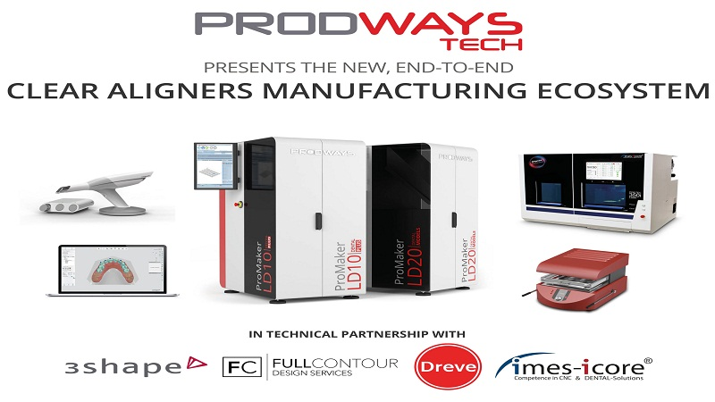 Prodways Launches Manufacturing Ecosystem For Clear Aligners