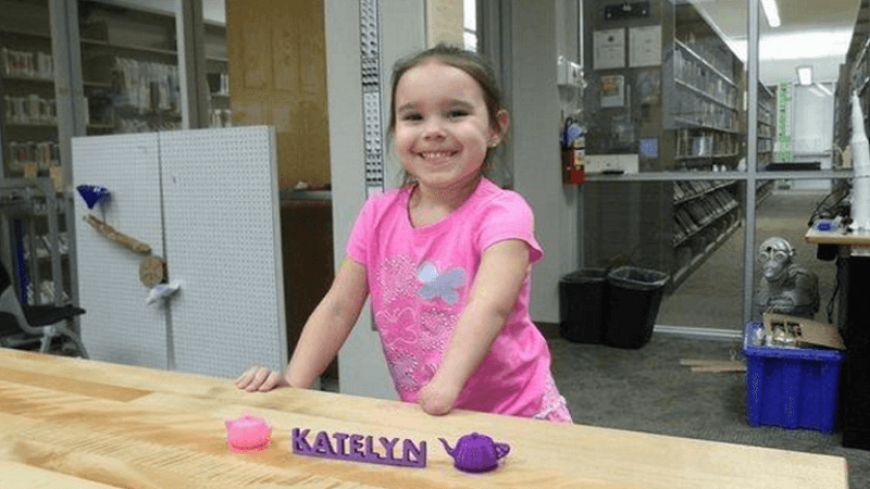 Girl receives 3D Printed Arm from e NABLE Library